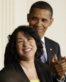 Supreme Court nominee Judge Sonia Sotomayor and President Barack Obama