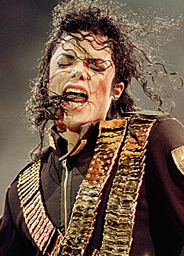 Micheal performing on stage
